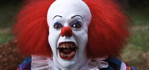 photo of a terrifying clown