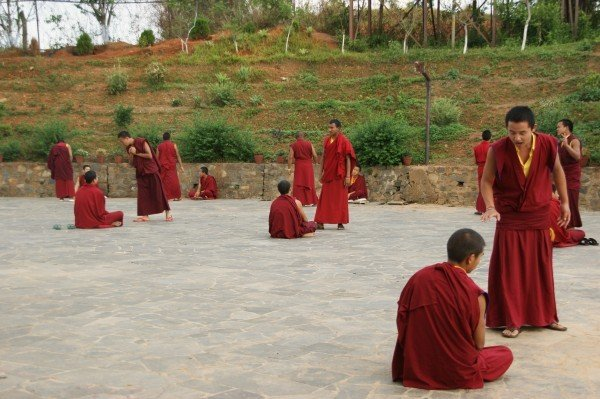 Nepal buddhism monks training traditional costumes