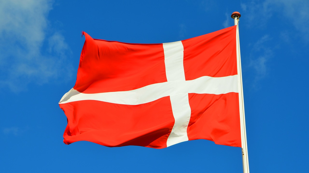Darnish Flag with a blue sky background